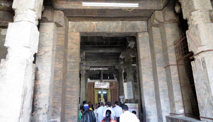 Navaneetha Krishna entrance ancient black stone