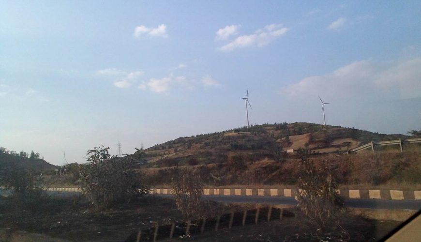 windmills on way back to bangalore